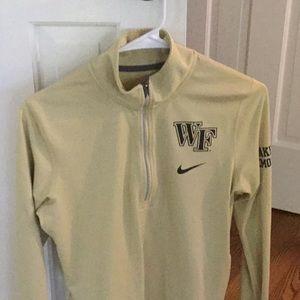 Nike- Wake Forest  1/2 zip , dry fit sweatshirt.